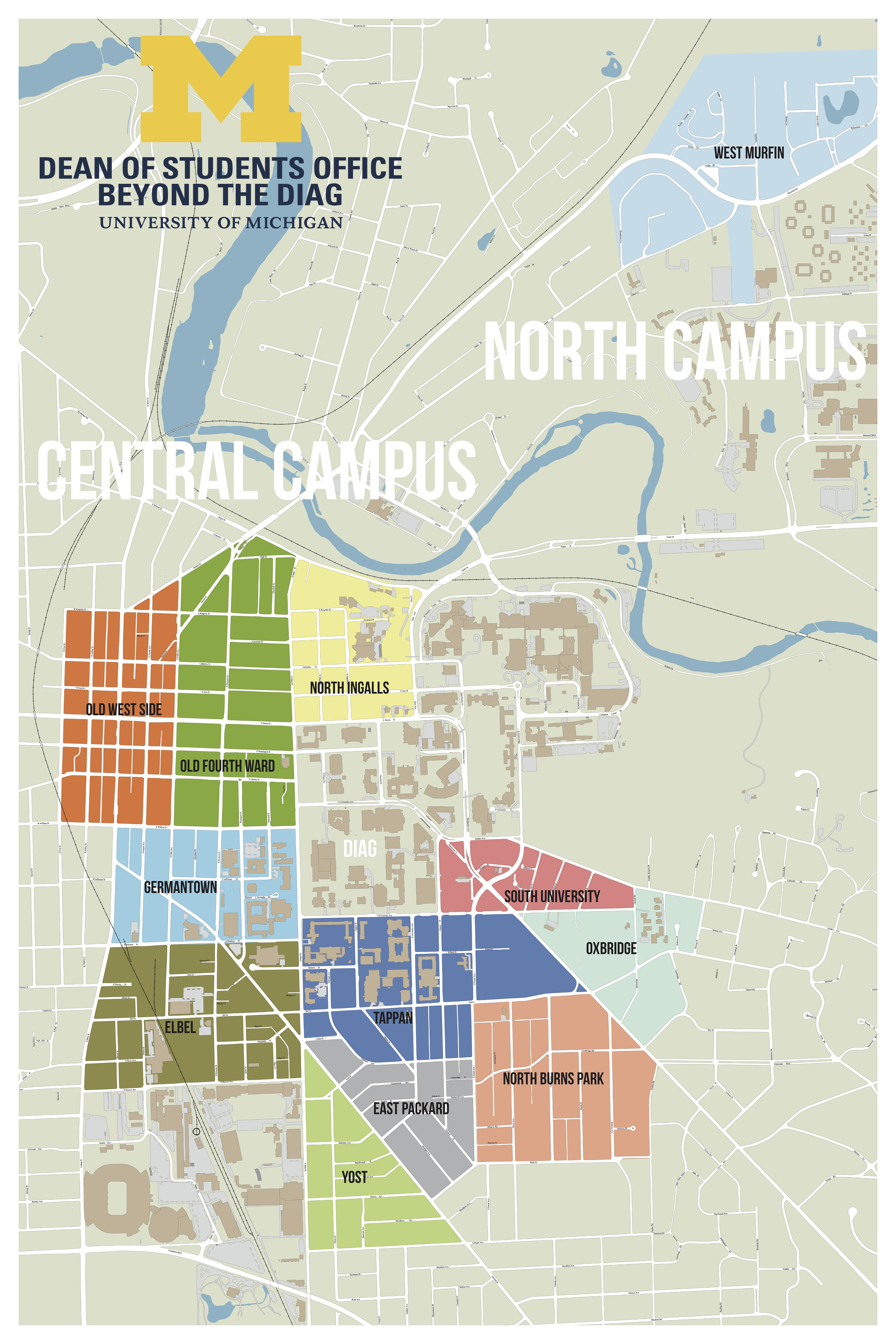 Uofm Campus Map.Off Campus Neighborhood Map Beyond The Diag Off Campus Housing