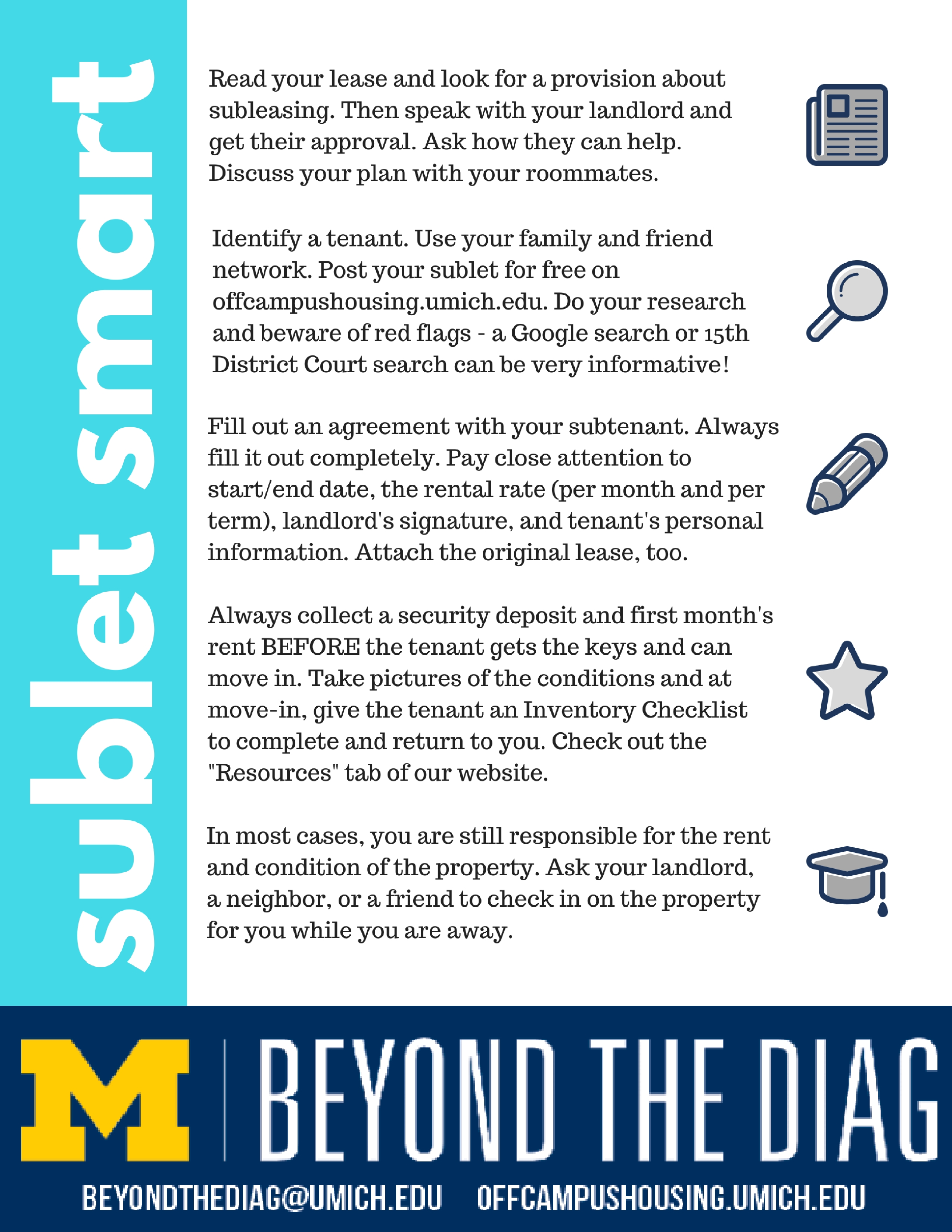 Sublet Smart and Don't Get Scammed | Beyond the Diag - Off