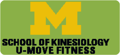 School of Kinesiology U-MOVE FITNESS w/block M