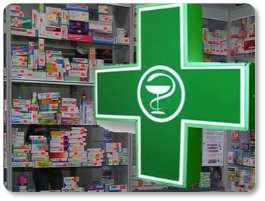 A green pharmacy aid logo