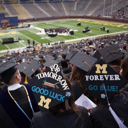 Courtesy of U-M Commencement