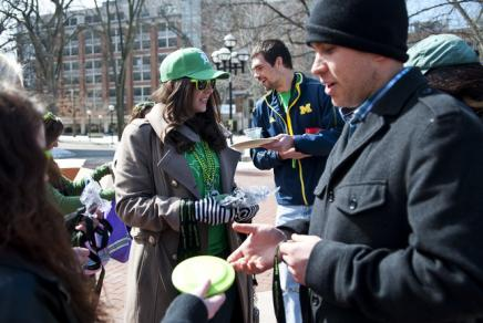 U-M CSG students hosting a sober St. Patrick's Day tailgate