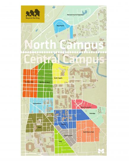 Map of North and Central Campus