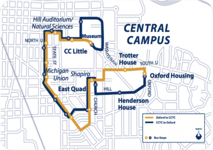 Map of the Night Owl Bus Route Loop
