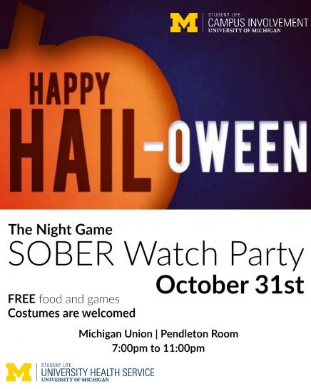 Sober watch party poster