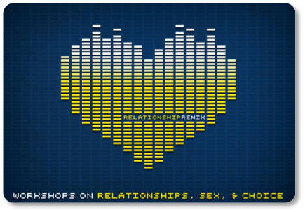 A yellow pixelated heart set on a dark blue background.