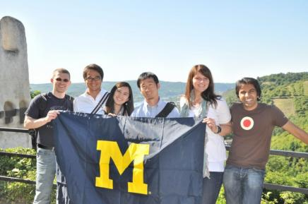 Ross students studying abroad in Europe