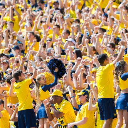 Michigan Football Student Section
